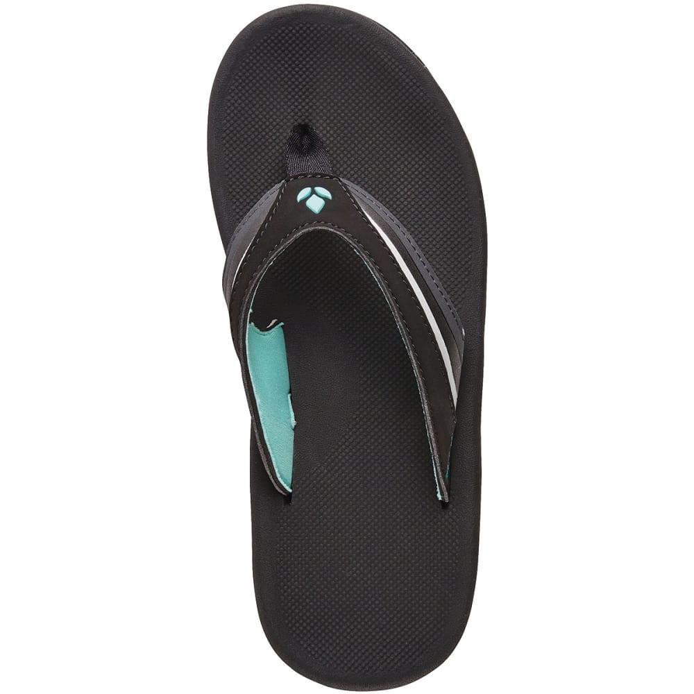 REEF Women's Slap 3 Flip-Flops - BLACK-BKQ