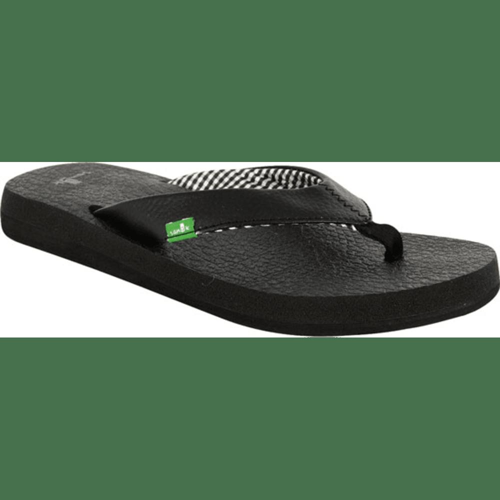 SANUK Women's Yoga Mat Flip-Flops - BLACK
