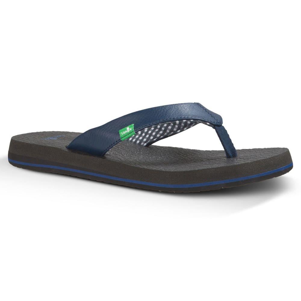 SANUK Women's Yoga Mat Flip-Flops - NAVY-NVY