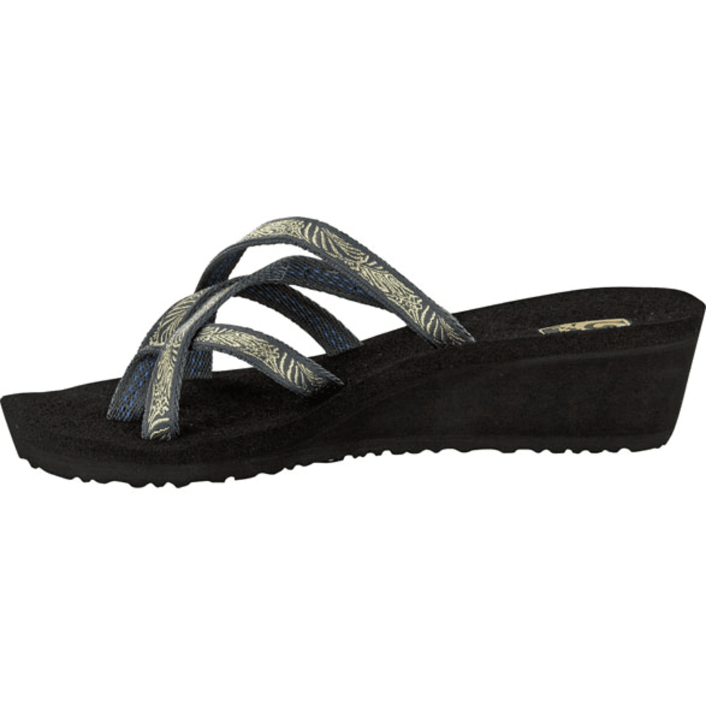 TEVA Women's Mush Mandalyn Wedge Ola Two Sandals - GRAY
