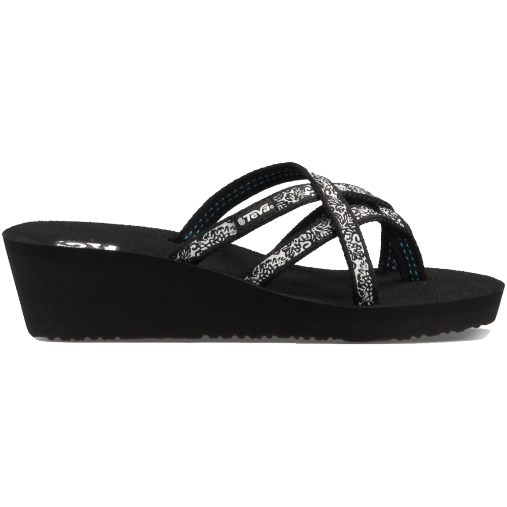 TEVA Women's Mush Mandalyn Wedge Ola Two Sandals - BLACK