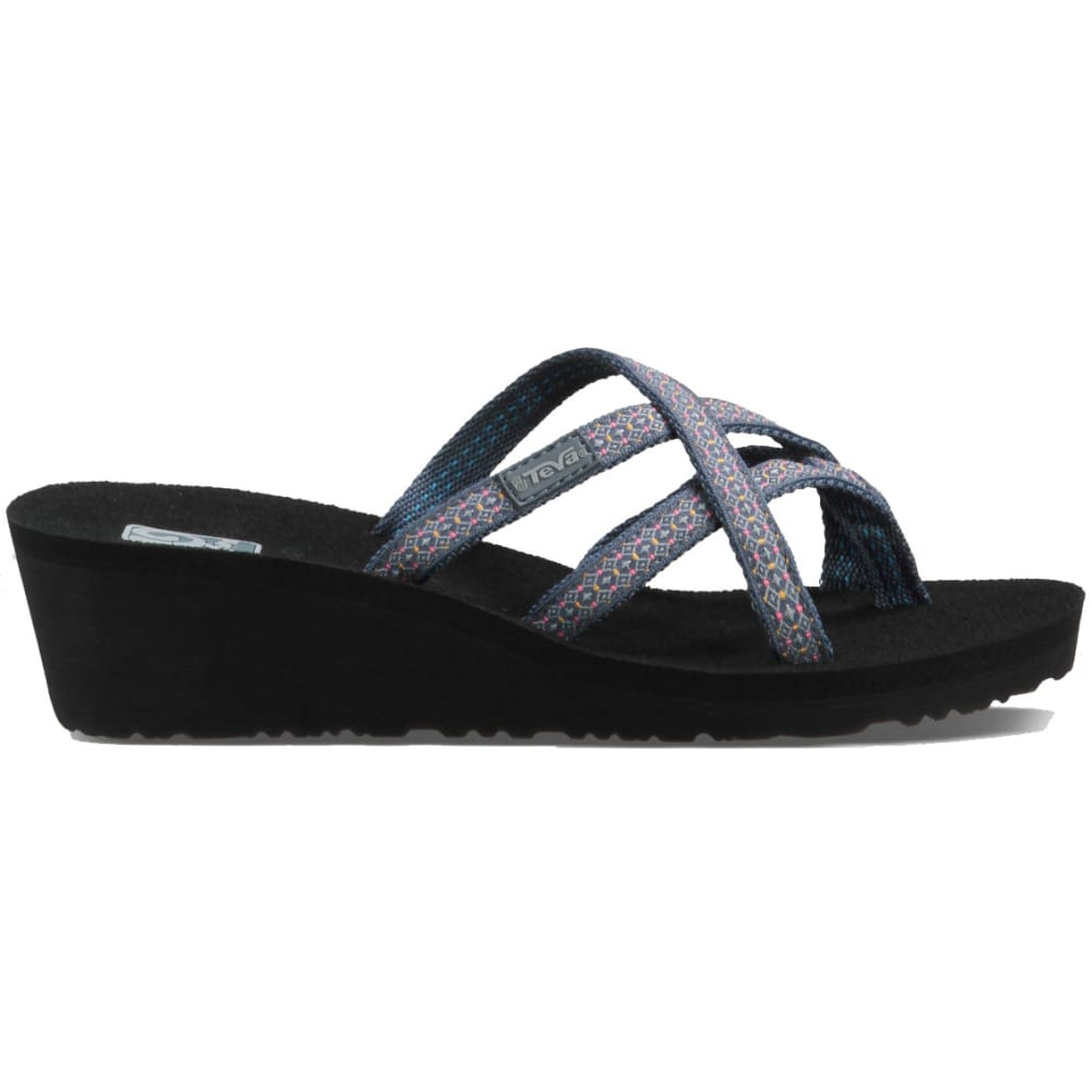 TEVA Women's Mush Mandalyn Wedge Ola Two Sandals - BLUE PTRND