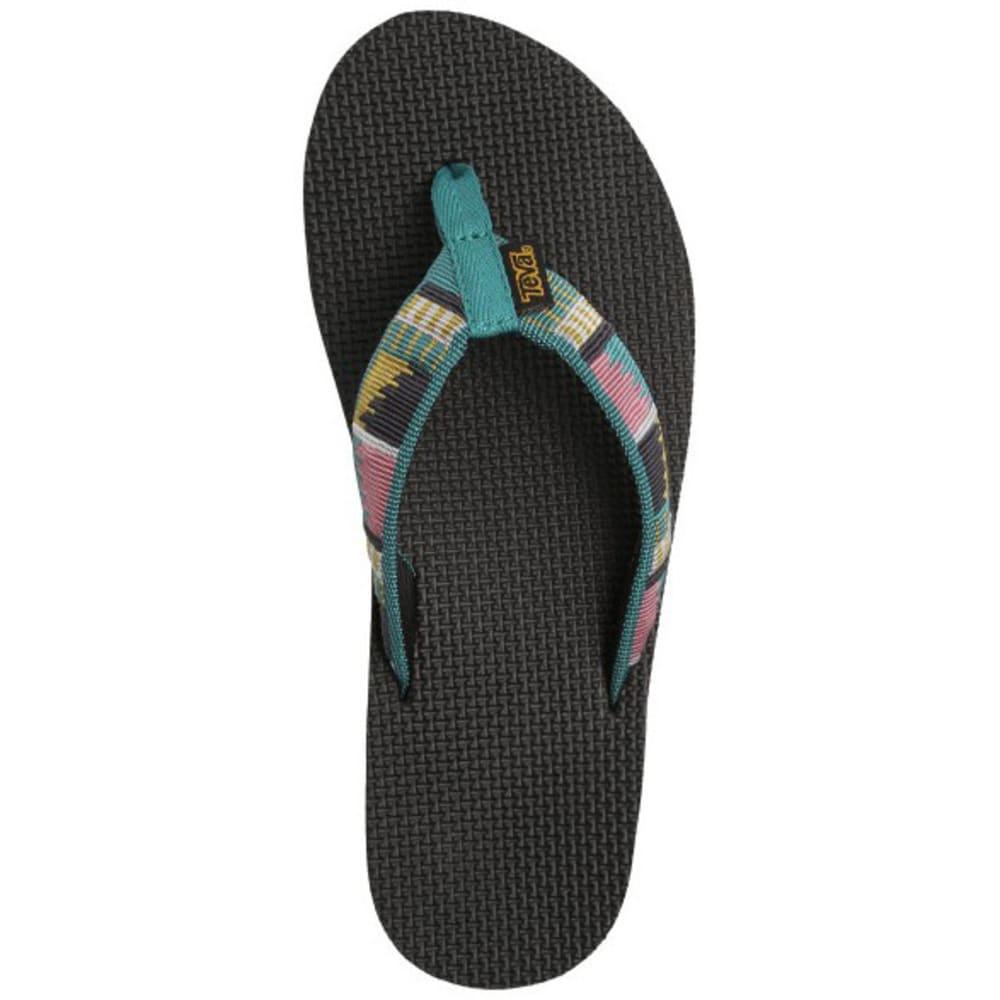 TEVA Women's Original Flip-Flops - BLUE PTRND