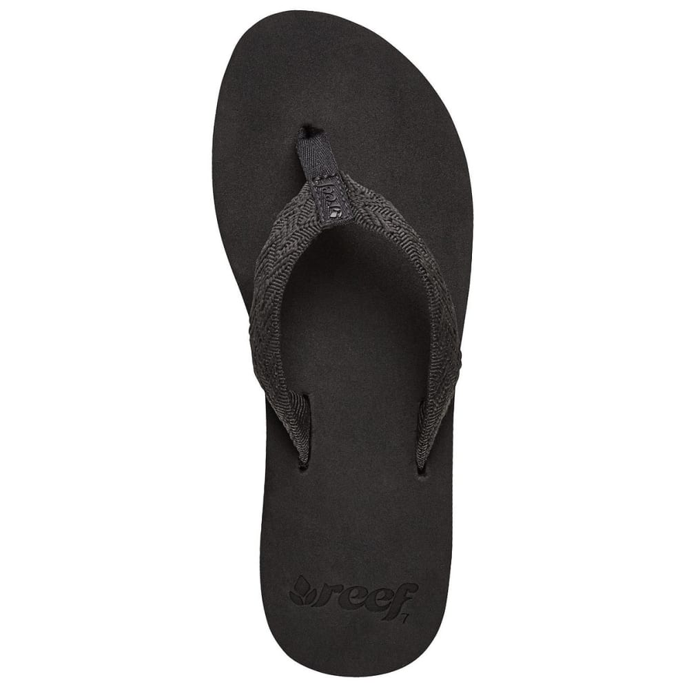 REEF Women's Mid Seas Flip-Flops - BLACK
