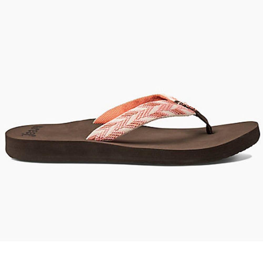 REEF Women's Mid Seas Flip-Flops - CORAL