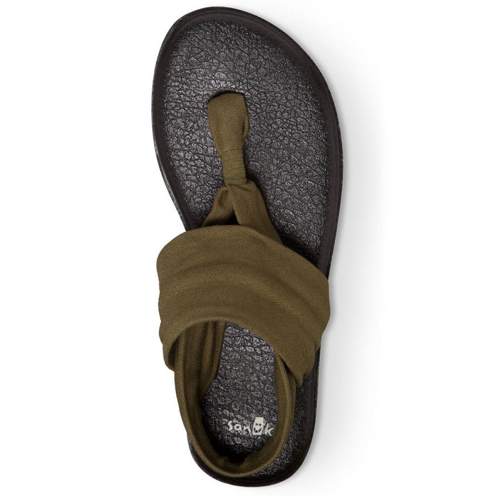 SANUK Women's Yoga Sling 2 Flip-Flops - DK OLIVE-DOL