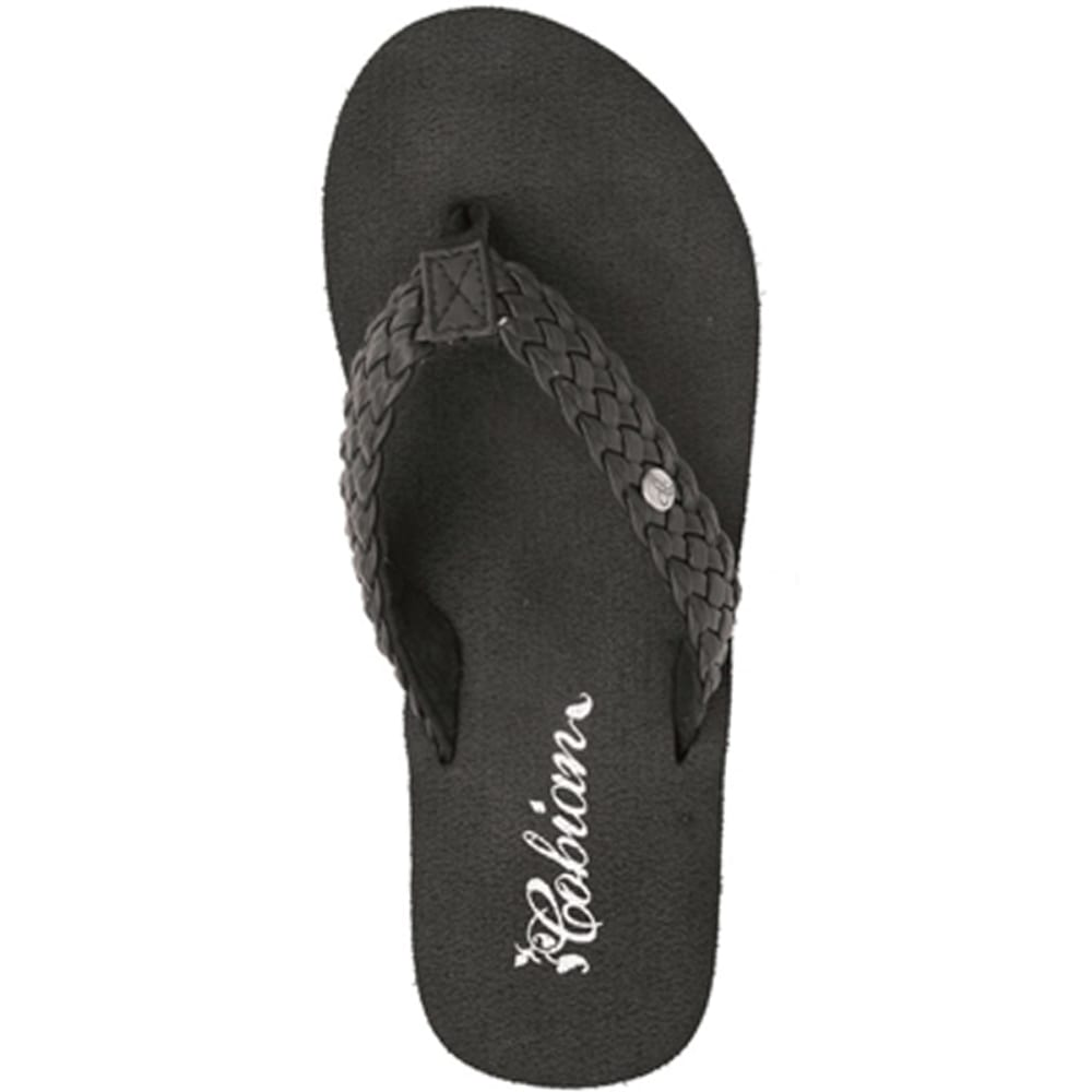 COBIAN Women's Braided Bounce Sandals - BLACK