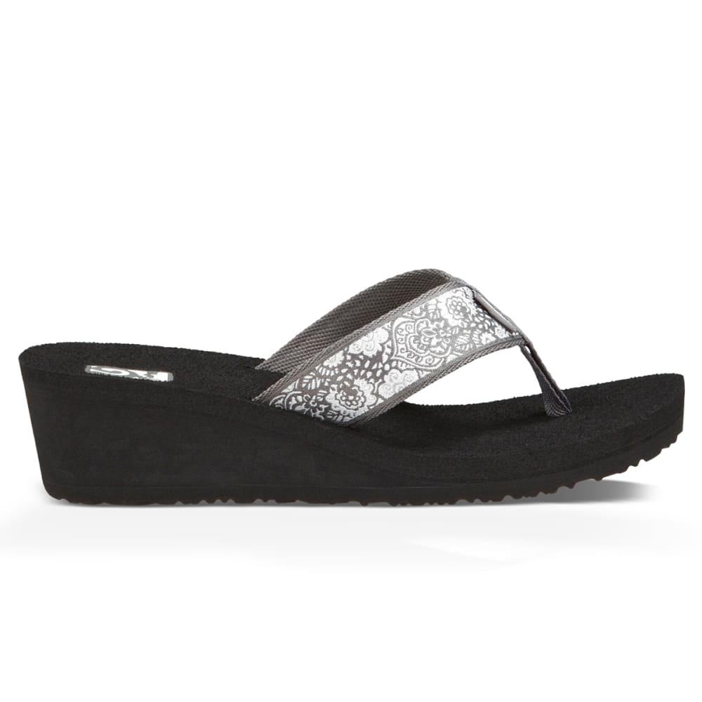 TEVA Women's Mush Mandalyn Wedge Sandals - SILVER