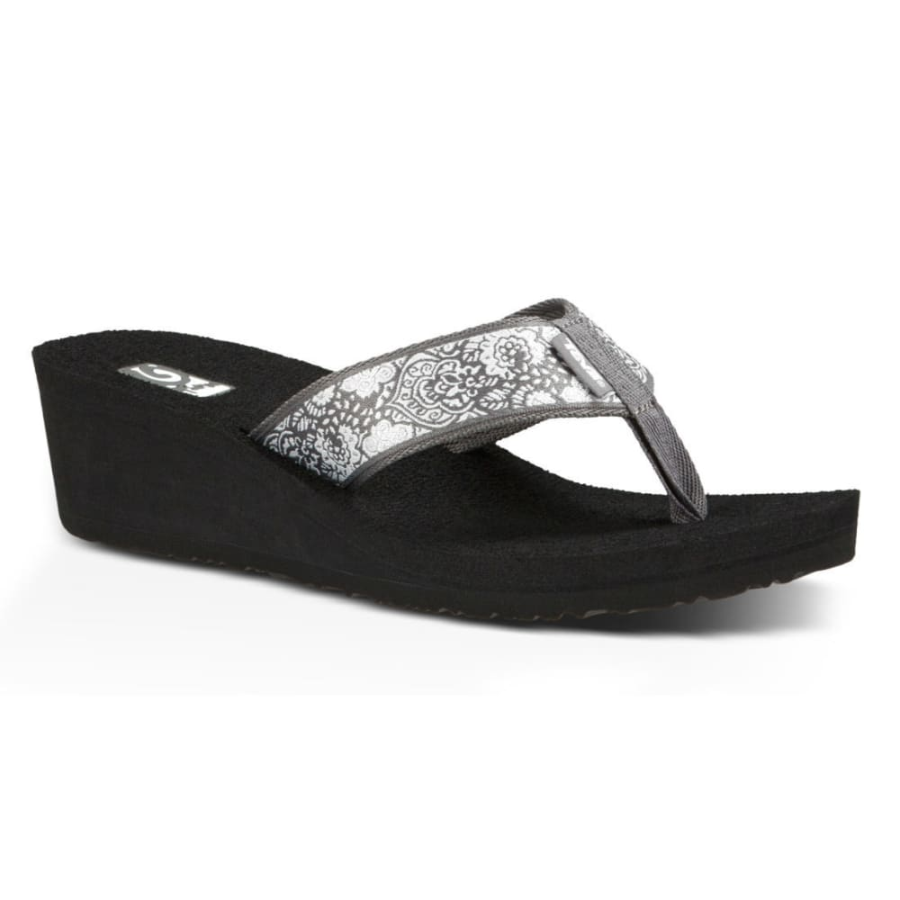 TEVA Women's Mush Mandalyn Wedge Sandals - SILVER