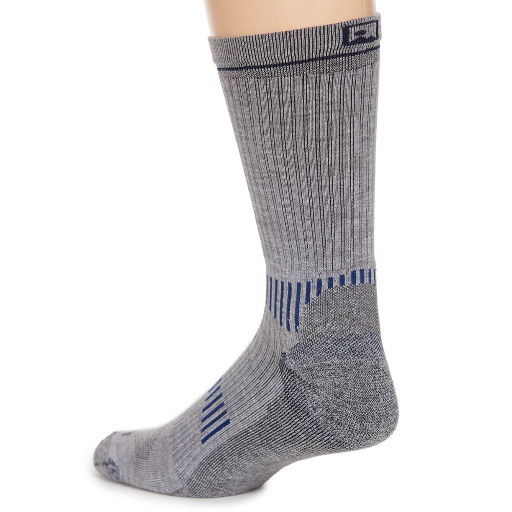 EMS Men's Fast Mountain Lightweight Coolmax Crew Socks, Grey - GREY