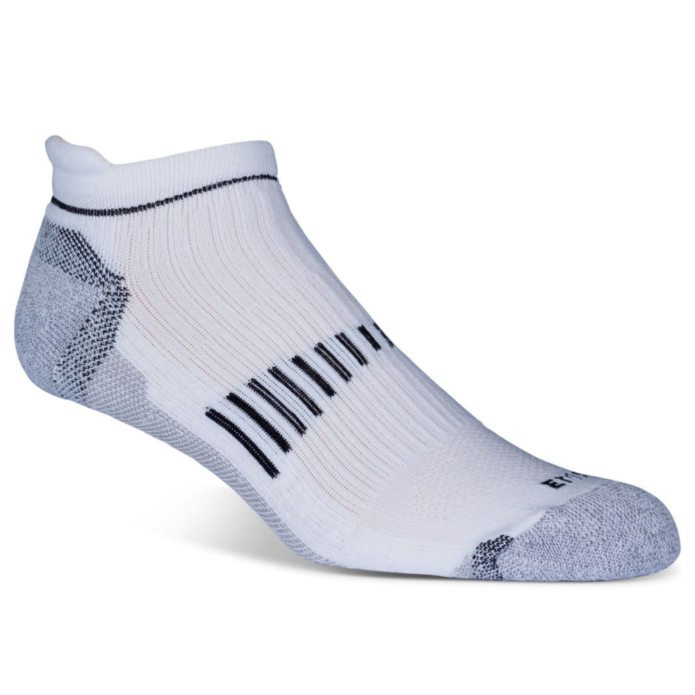 EMS Men's Fast Mountain Lightweight Coolmax Ankle Socks, White - WHITE