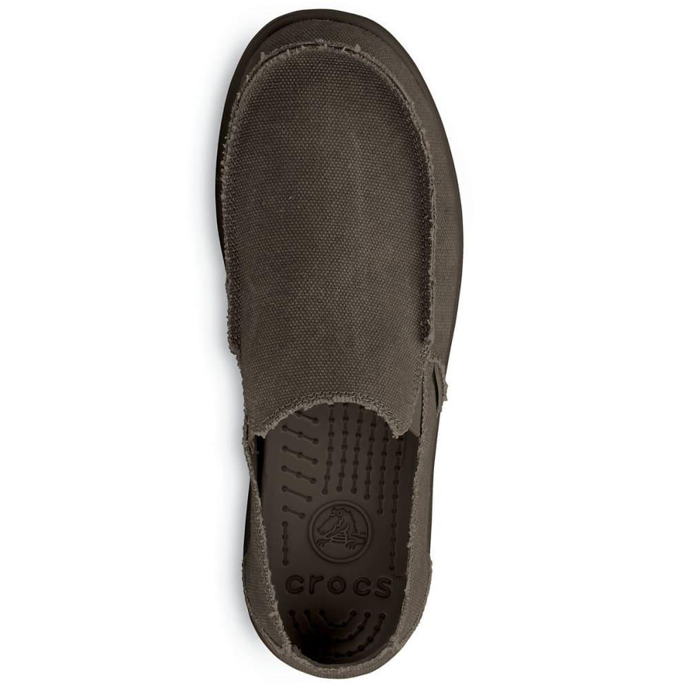 Crocs Men's Santa Cruz Croslite Slip On - ESPRESSO-22Z