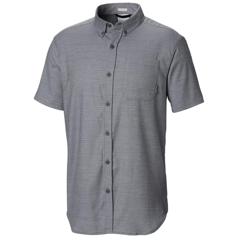 COLUMBIA Men's Rapid Rivers Mirage Short-Sleeve Shirt - 053 GRAPHITE STETCH