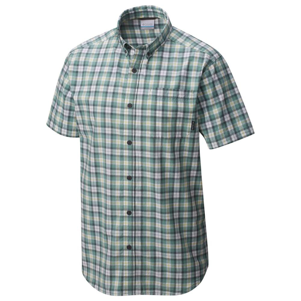 COLUMBIA Men's Rapid Rivers Mirage Short-Sleeve Shirt - DUSTY GRN M PLD-387