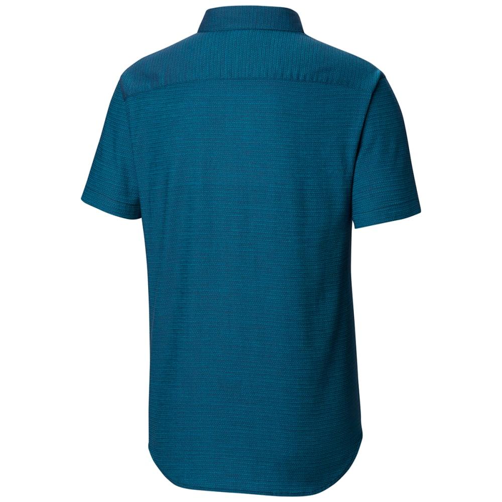 COLUMBIA Men's Rapid Rivers Mirage Short-Sleeve Shirt - 464 COLLEGIATE NAVY