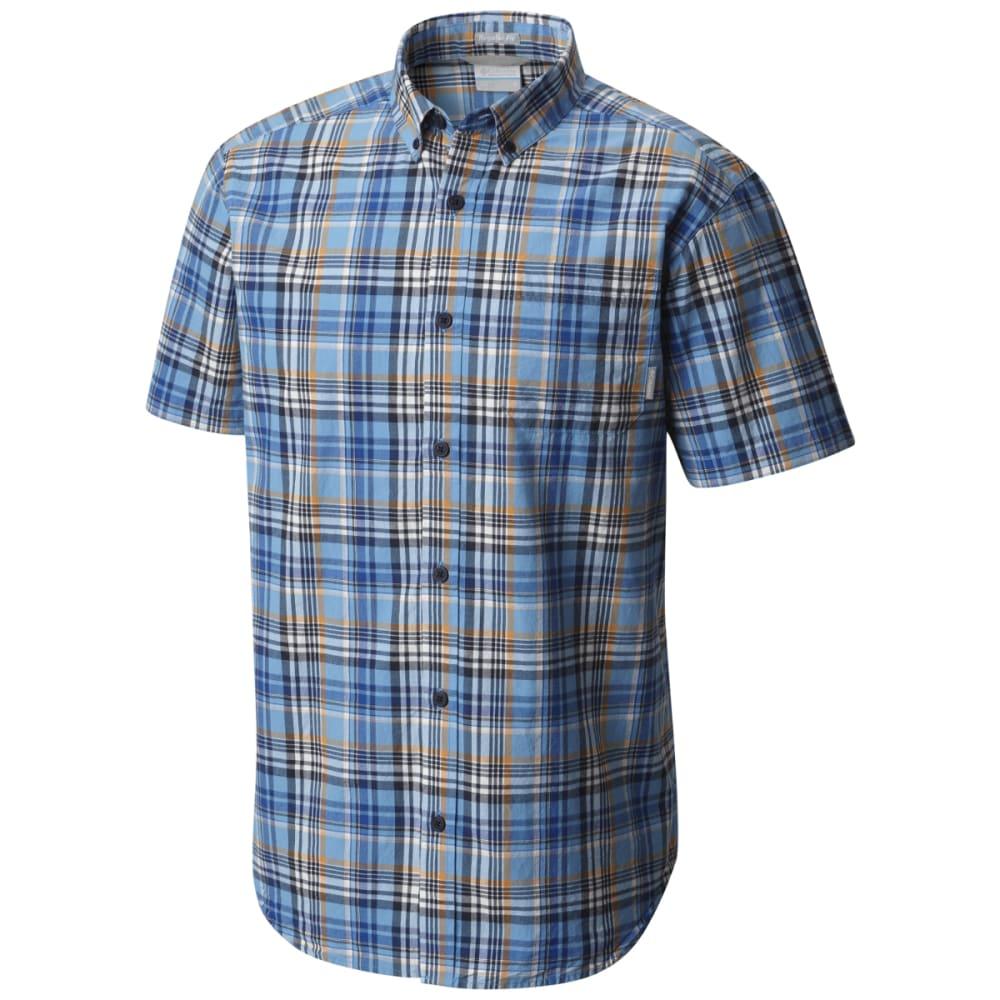 COLUMBIA Men's Rapid Rivers Mirage Short-Sleeve Shirt - AZUL PLD-439