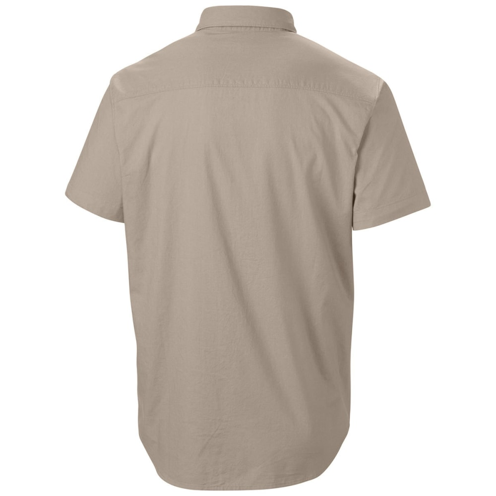 COLUMBIA Men's Thompson Hill Solid Short Sleeve Woven Shirt - FOSSIL-160