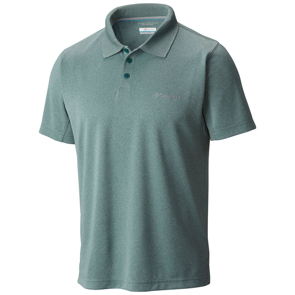 COLUMBIA Men's New Utilizer Polo Shirt - DUSTY GRN-387