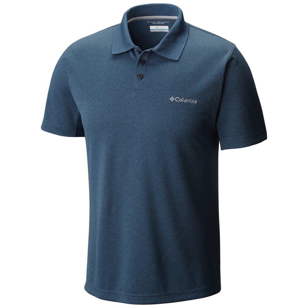 COLUMBIA Men's New Utilizer Polo Shirt - ZINC HTR-492