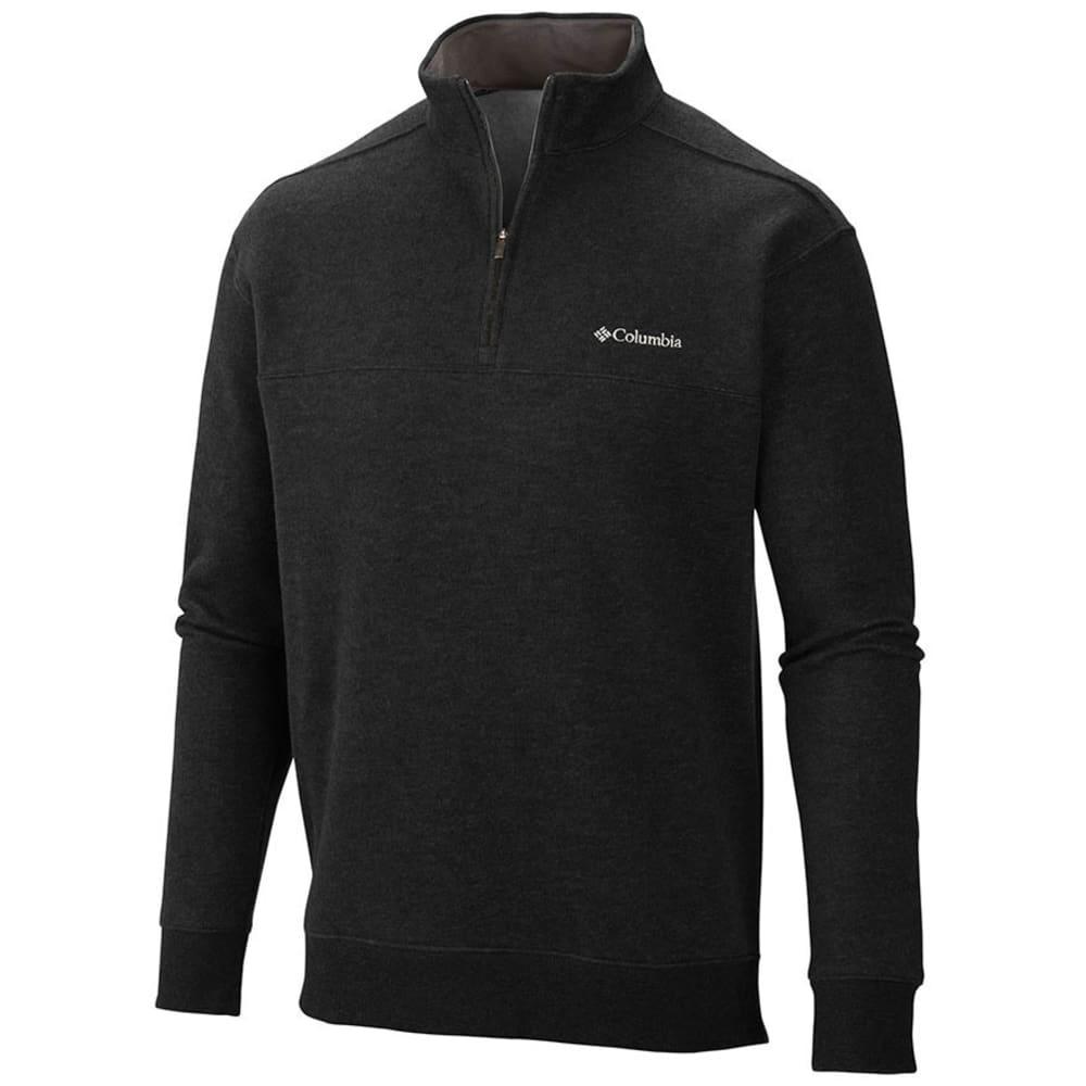 COLUMBIA Men's Hart Mountain Quarter Zip Pullover Sweatshirt - BLACK-010