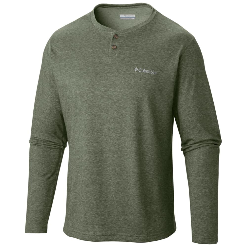 COLUMBIA Men's Thistletown Park Henley Shirt - SURPLUS GRN-347