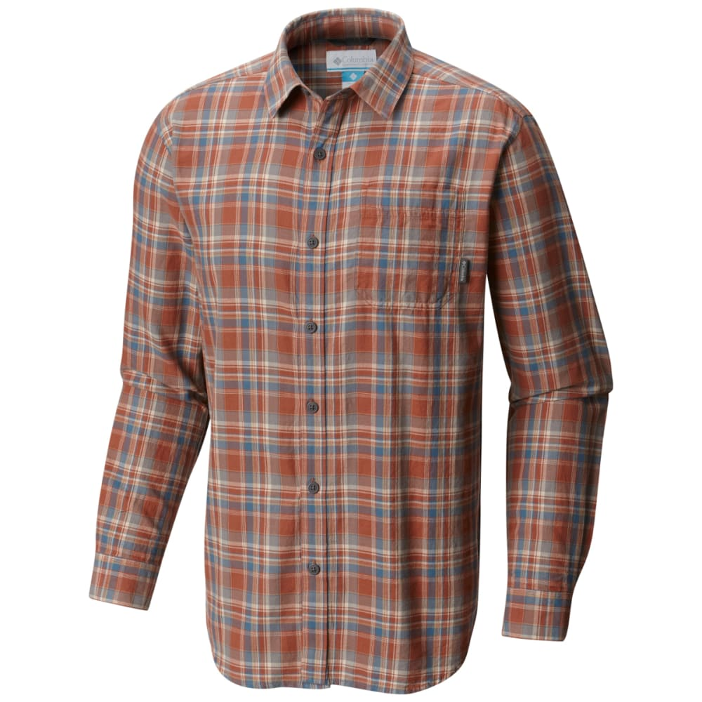 COLUMBIA Men's Vapor Ridge III Long-Sleeve Shirt - HOT PEPPER PLD-834
