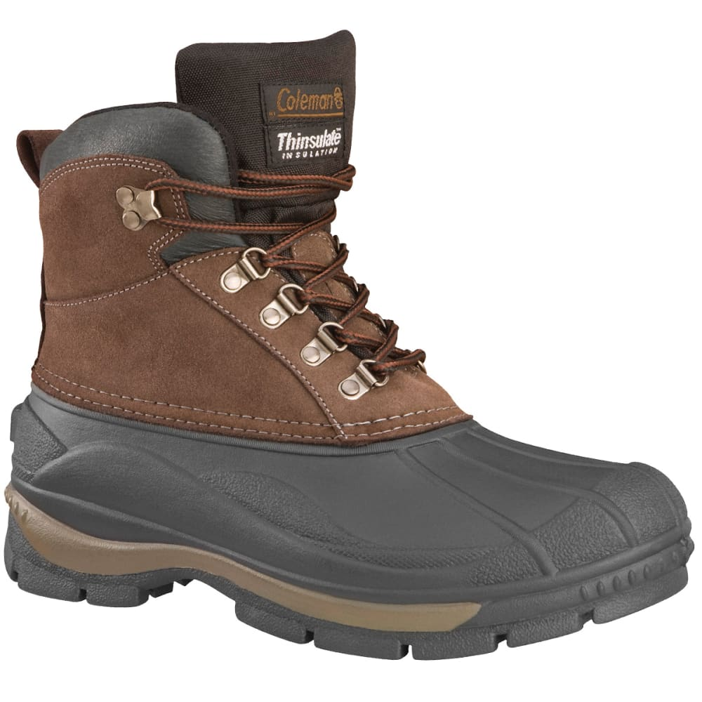 COLEMAN Men's Glacier Mid Lace Up Shell Boots - BROWN