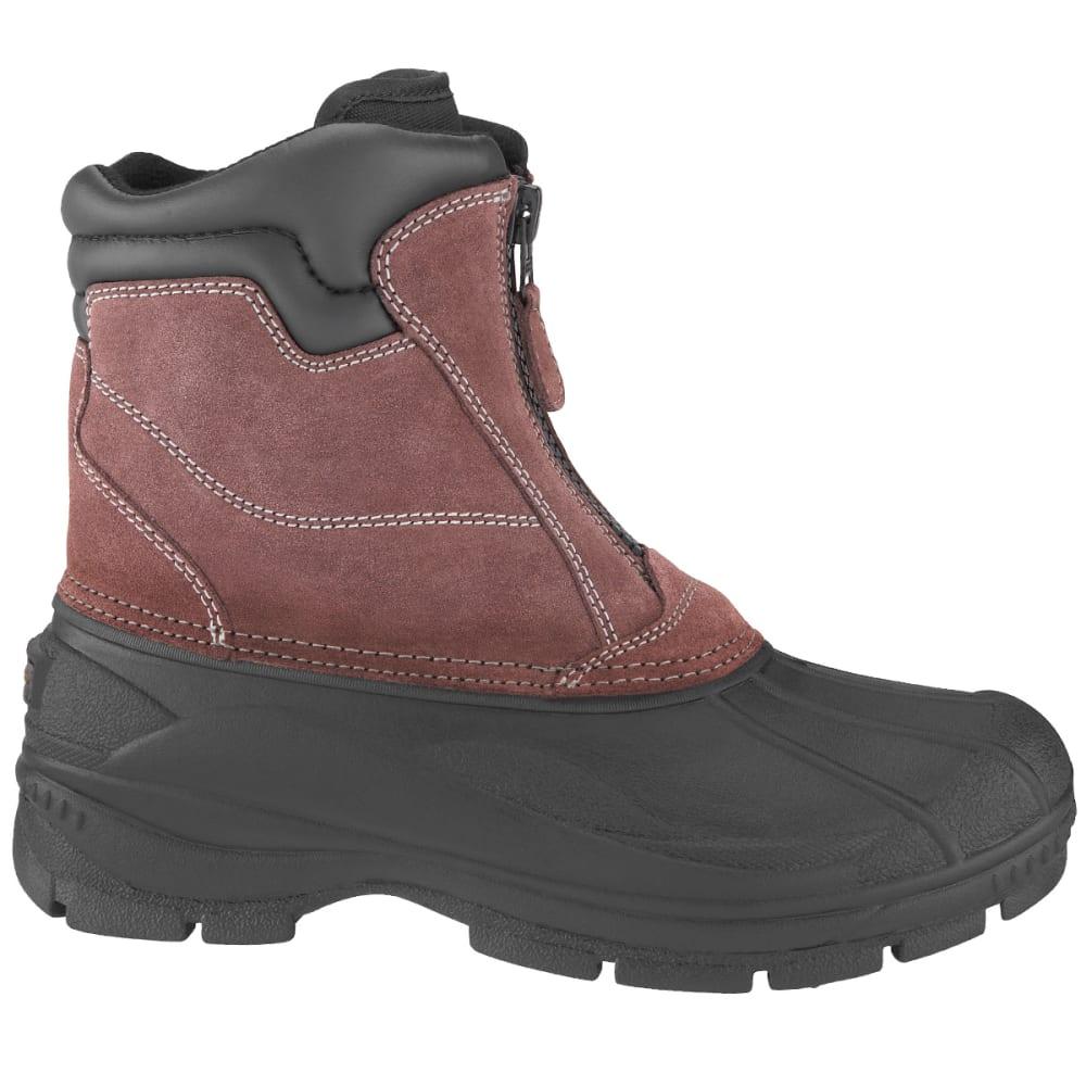 COLEMAN Men's Glacier Mid Full Zip Front Shell Boots - BROWN