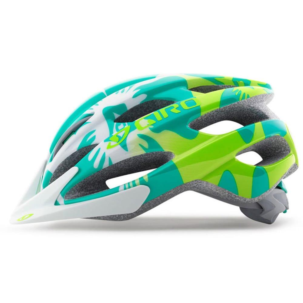 GIRO Kids' Raze Bike Helmet - TURQUOISE/LIMEFLORAL