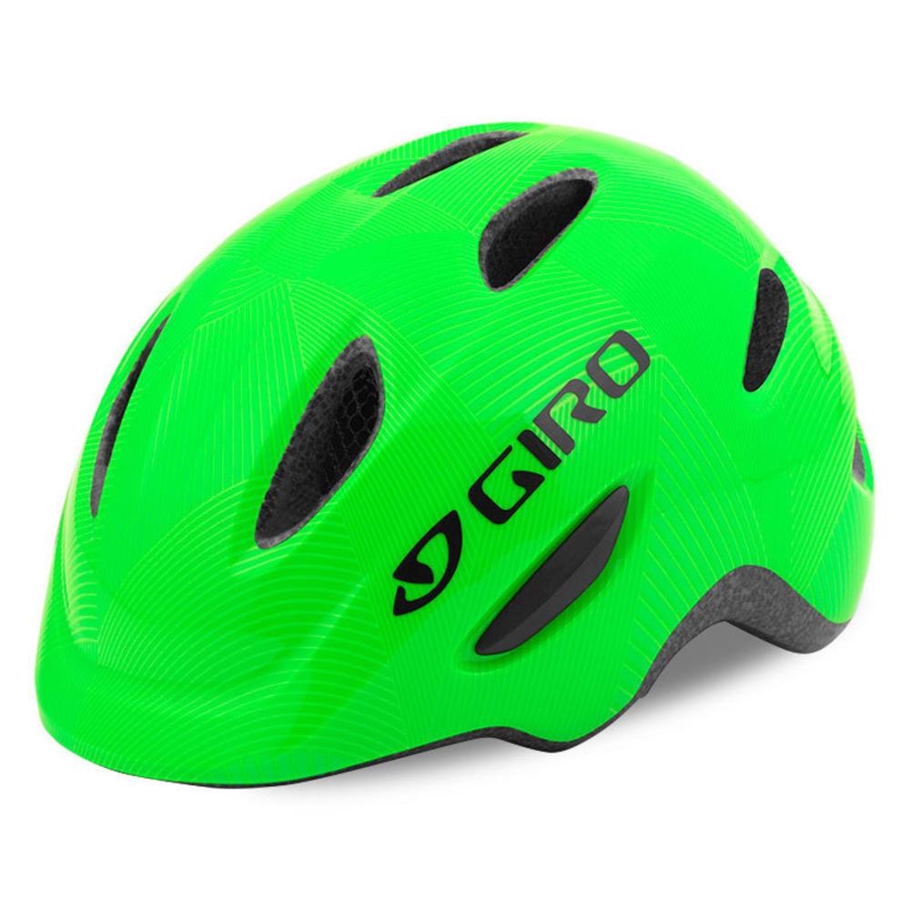 GIRO Kids' Scamp Helmet - GREEN/LIME LINES