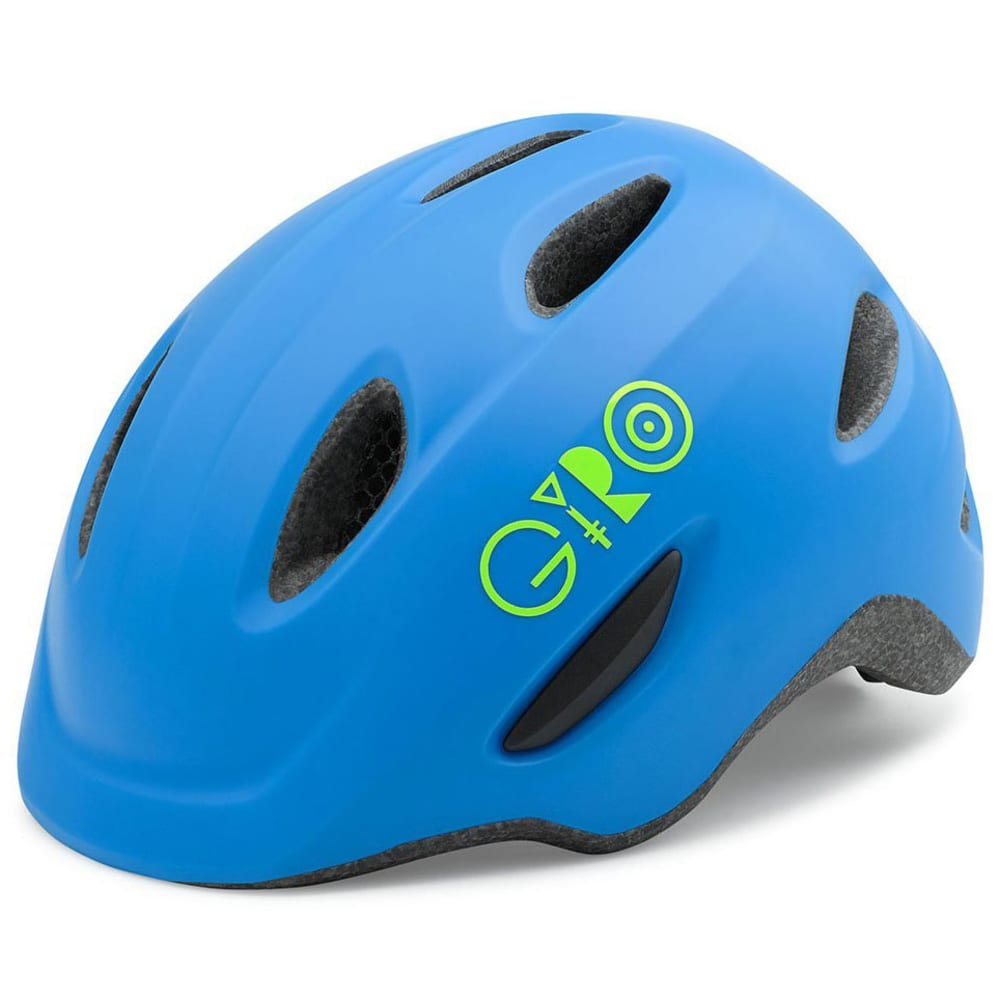 GIRO Kids' Scamp Helmet - MATTE BLUE/LIME