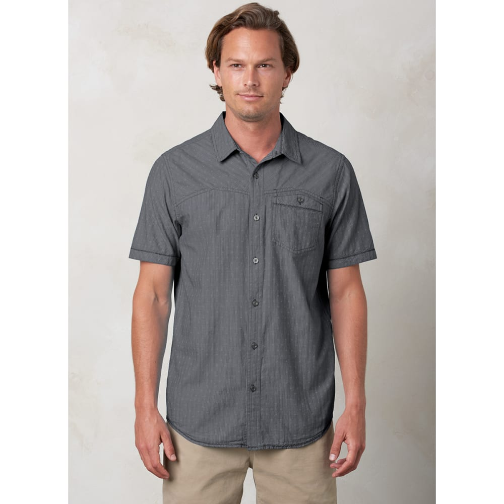 PRANA Men's Patras Slim-Fit Shirt - CHARCOAL