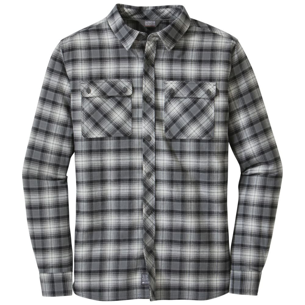 OUTDOOR RESEARCH Men's Crony Long-Sleeve Shirt - CHARCOAL/BLACK