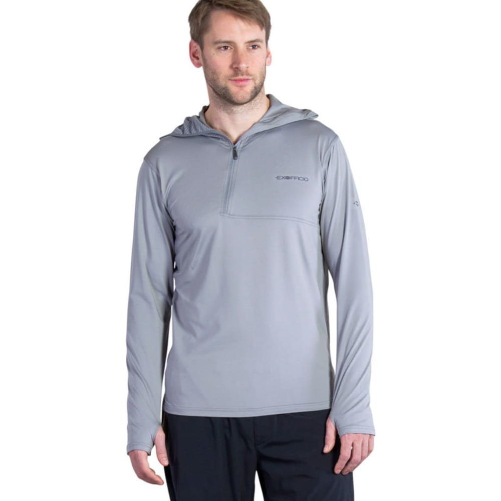 EXOFFICIO Men's Sol Cool   Ultimate Hoodie - CEMENT