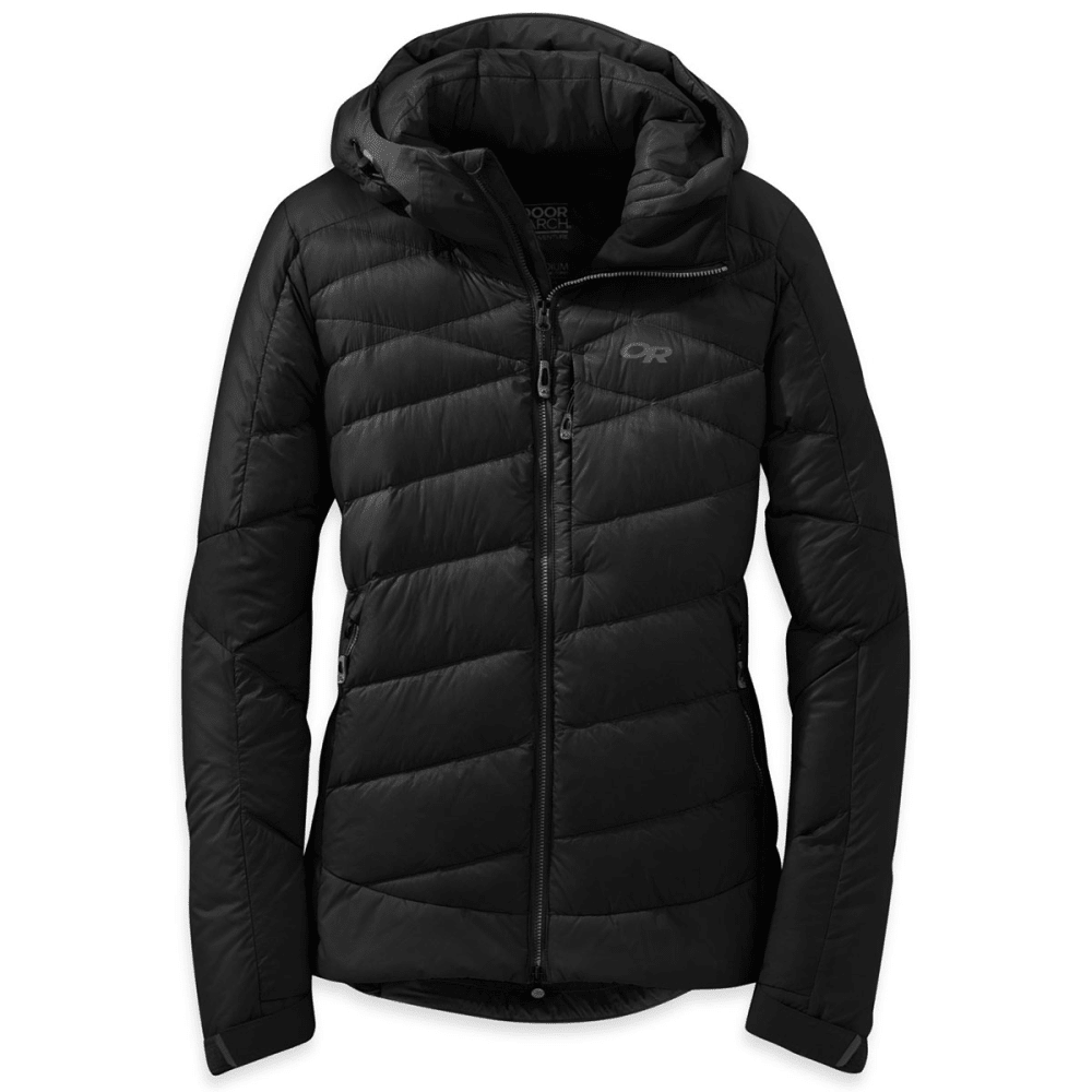 OUTDOOR RESEARCH Women's Diode Hooded Down Jacket - BLACK