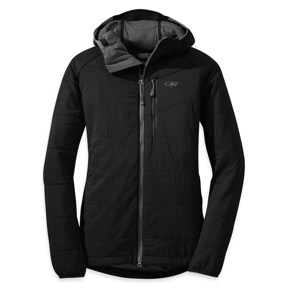 OUTDOOR RESEARCH Women's Uberlayer Hooded Jacket - BLACK