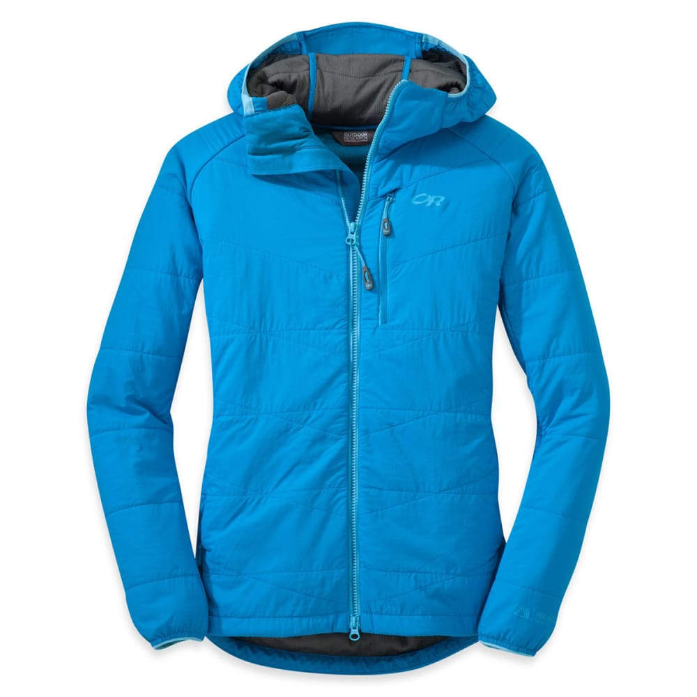 OUTDOOR RESEARCH Women's Uberlayer Hooded Jacket - HYDRO