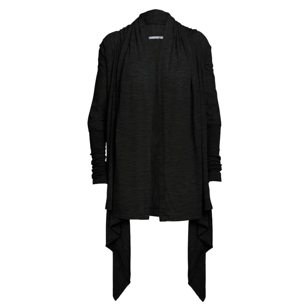 ICEBREAKER Women's Sydney Wrap Sweater - BLACK/BLACK