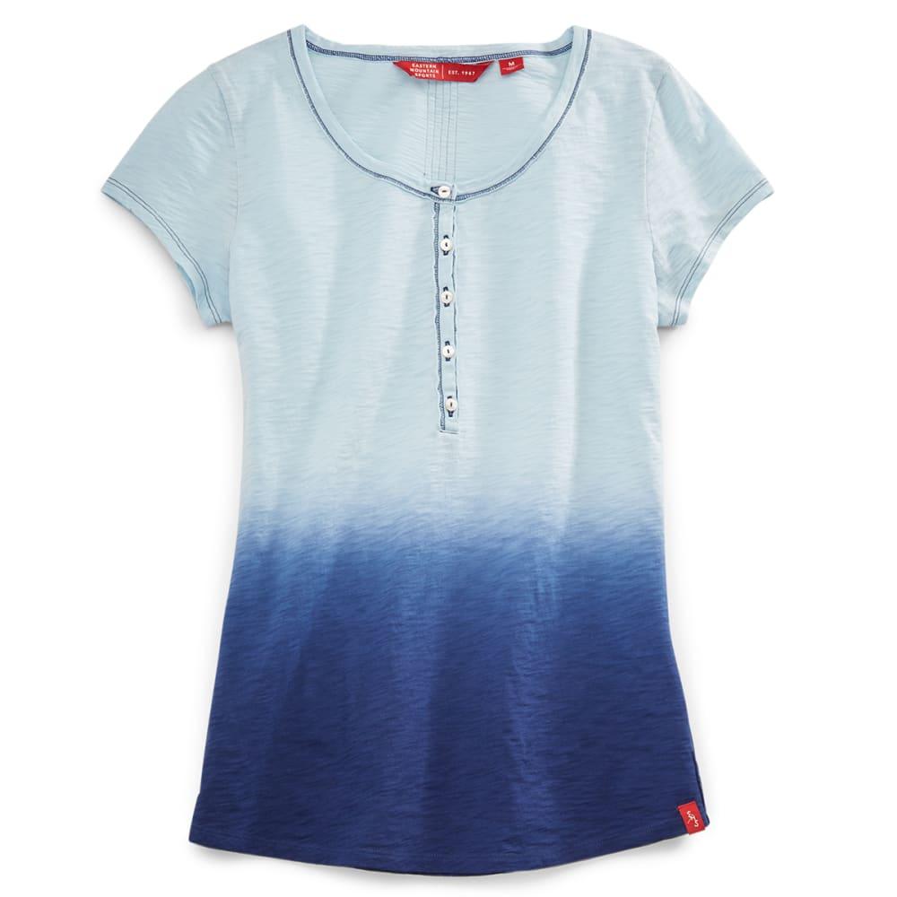 EMS® Women's Dip Dye Slub Henley - COOL BLUE