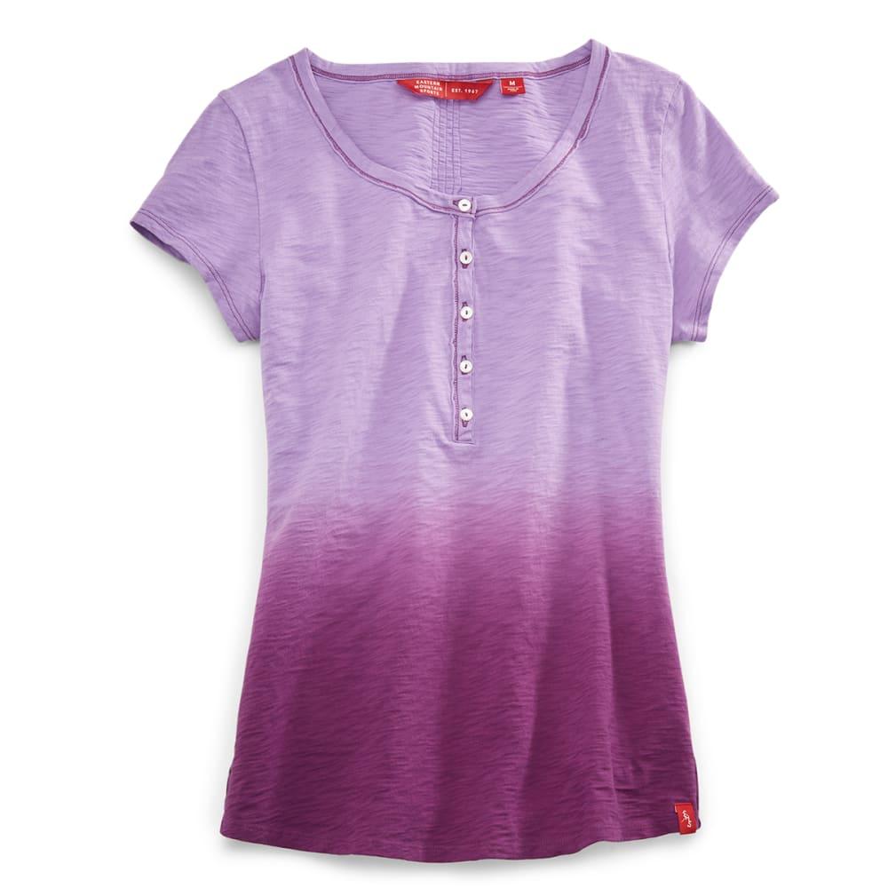 EMS® Women's Dip Dye Slub Henley  - ENGLISH LAVENDER