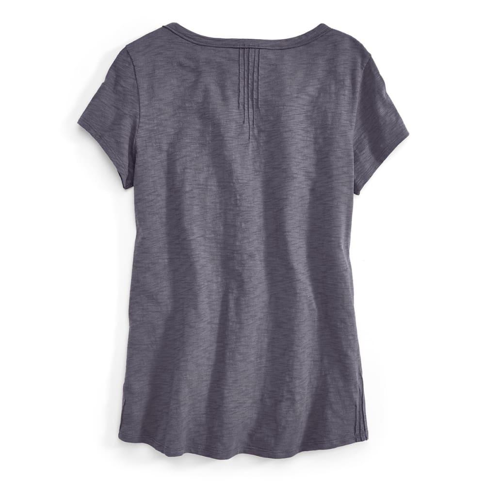 EMS® Women's Slub Knit Short-Sleeve Henley  - EBONY