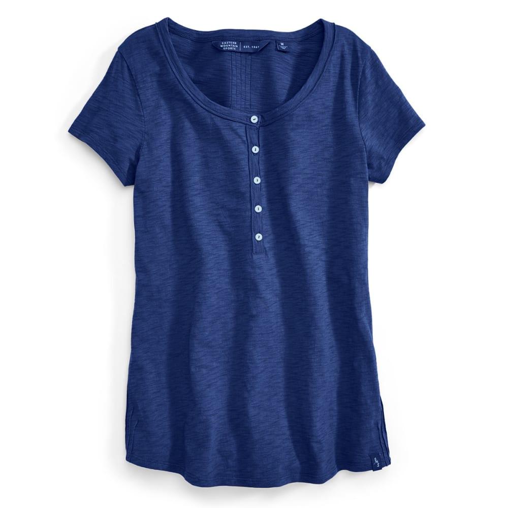 EMS® Women's Slub Knit Short-Sleeve Henley - BLUE DEPTHS