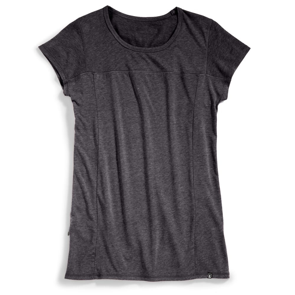 EMS Women's Techwick Vital Travel Tee - JET BLACK HTR