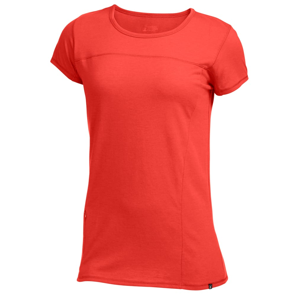 EMS® Women's Techwick® Vital Travel Tee - POPPY RED