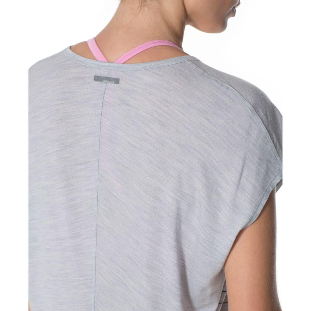 ICEBREAKER Women's Aria Line Print Tunic Tee - BLIZZARD HEATHER