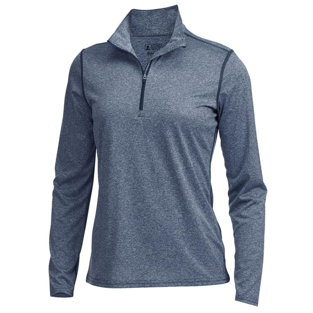 EMS® Women's Techwick® Essence Long-Sleeve ¼ Zip - NAVY HEATHER