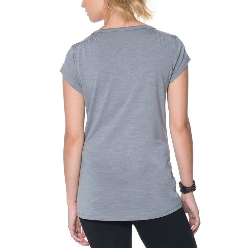 ICEBREAKER Women's Cool-Lite Spheria Short-Sleeve Scoop Tee - FOSSIL HTHR