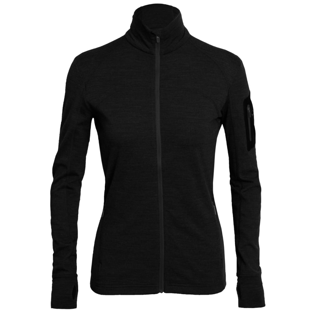 ICEBREAKER Women's Terra Long-Sleeve Zip - BLACK/ BLACK/ BLACK