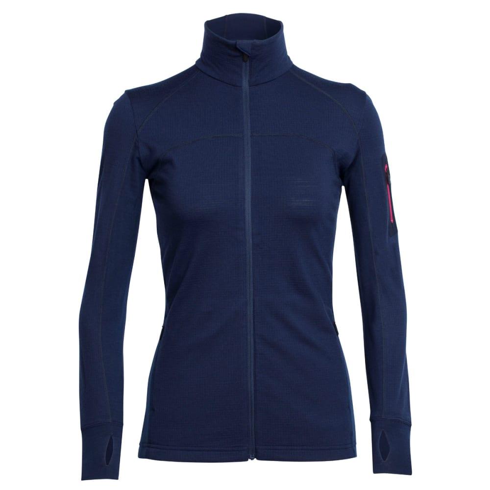 ICEBREAKER Women's Terra Long Sleeve Zip - ADMIRAL/ADMRL/P PNK