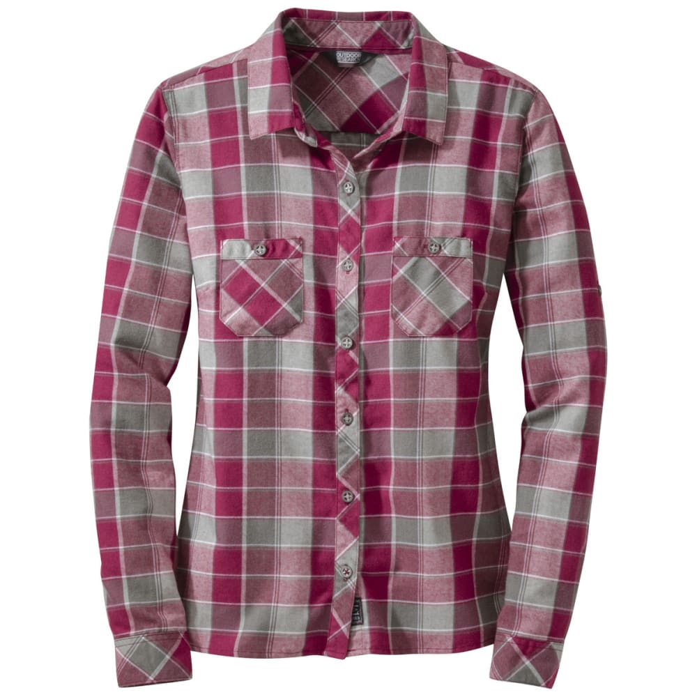 OUTDOOR RESEARCH Women's Ceres Long-Sleeve Shirt - RASPBERRY/PEWTER